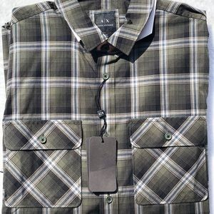 Armani Exchange Mens button up size Large